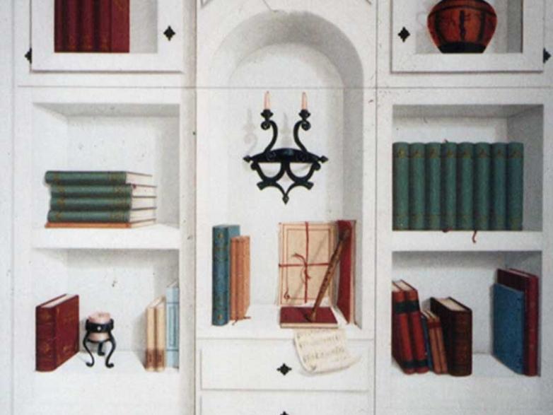 Finta libreria bianca