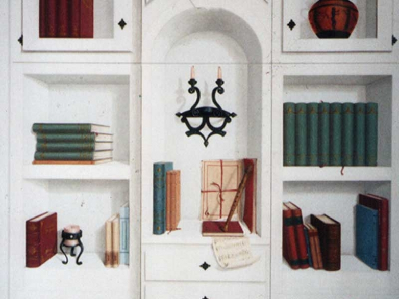 Faux white bookcase